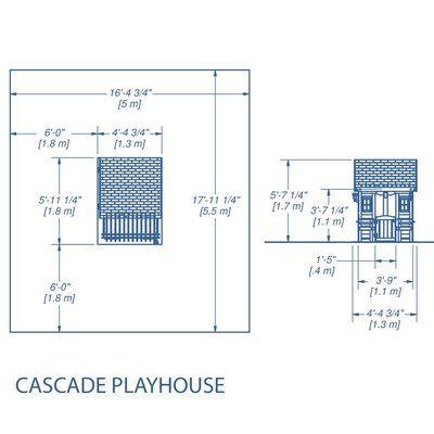 Backyard Discovery All Cedar Cascade Playhouse
