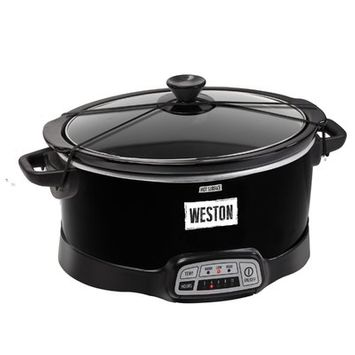 Weston Programmable 7 qt. Slow Cooker with Lid Latch Strap