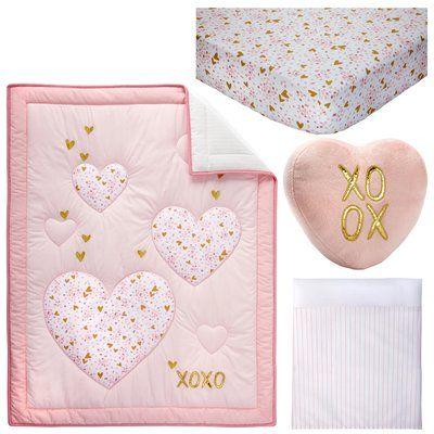 Little Love By Nojo She's So Lovely 4pc Crib Bedding Set