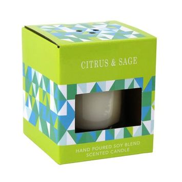 Ebern Designs Citrus and Sage Scented Pillar Candle