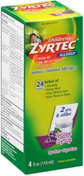 Zyrtec®  Children's Grape Allergy Syrup