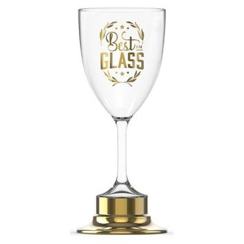 Fred Best in Glass Trophy 12 Oz. All Purpose Wine Glass