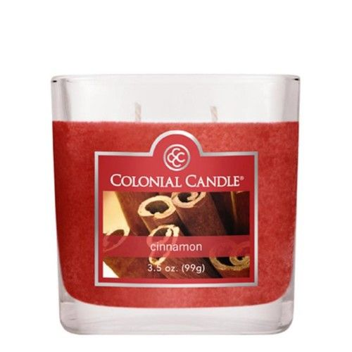 Fragranced In-line Container Fragranced inline Container CC035.847 3.5oz. Oval Cinnamon Candles Pack of 6