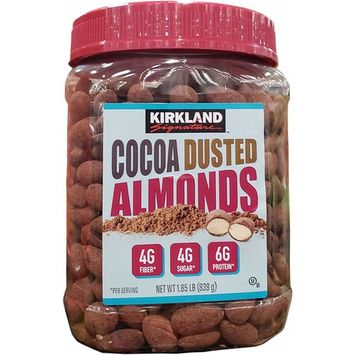 Kirkland Signature Cocoa Dusted Almonds, 29.6 Ounce