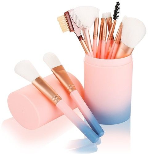 Makeup Brush Sets - 12 Pcs Makeup Brushes for Foundation Eyeshadow Eyebrow Eyeliner Blush Powder Concealer Contour [pink]