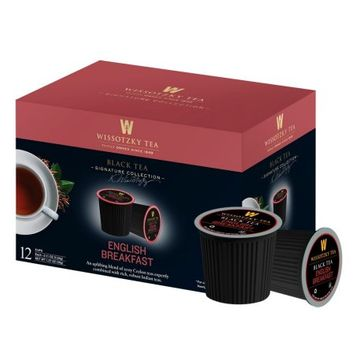 Wissotzky Tea English Breakfast Black Tea Single Serve Cups For Keurig K Cup Brewer, 12 Count