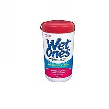 Wet Ones Antibacterial Wipes 40 Count (Value Pack of 6)