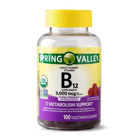 Spring Valley Vitamin B12 Gummy, 3000 mcg, 100 Ct