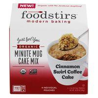 Organic Minute Mug Cake Mix Cinnamon Swirl Coffee Cake - 4 Pouches