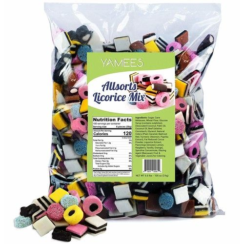 Yamees Licorice Candy - Licorice Allsorts Candy - Allsorts Licorice - English Licorice - Bulk Candy - 6.6 Pounds