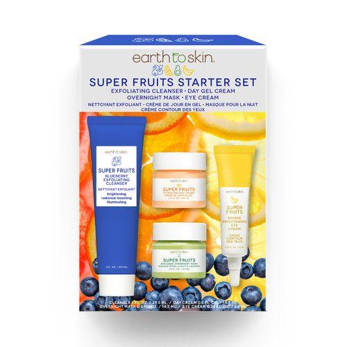 Earth to Skin Super Fruits Starter Kit, 4 Piece Set