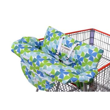Costco Sized Grocery Shopping Cart Baby Seat Cover, Restaurant High Chair - Insert Cushion Holder for Boys, Girls, Infants, Toddler