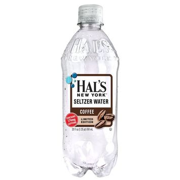 Hal's New York Seltzer Water Coffee 20 ounces (24 Pack)