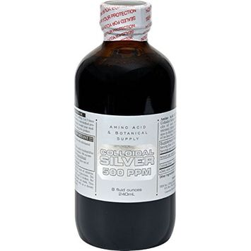 Amino Acid & Botanical Amino Acid and Botanical Supply Colloidal Silver - 500 ppm - 8 fl oz - HSG-399832