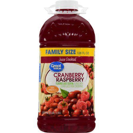Great Value Cranberry Raspberry Juice Cocktail, 1 gallon
