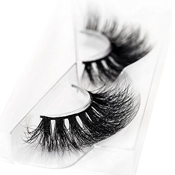 3D Mink False Eyelash 100% Handmade Strip Lashes, Pinkzio Reusable Extra Thick, Dramatic Volume Double Layer Fake Lashes 3D Faux Mink Lashes-003