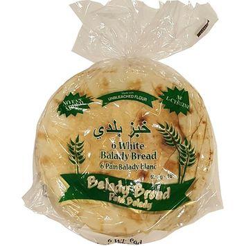 Mediterranean Balady White Pita Bread 10