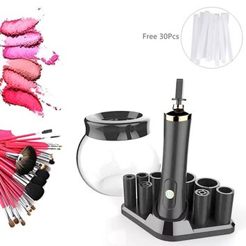 CLOTHOBEAUTY Automatic Makeup Brush Cleaner Device, Pro Quick/Easy Makeup Brush Cleaner and Dryer, Electric Spinning Makeup Brush Cleaning and drying Machine, Cleaning All Cosmetic Brushes in Seconds