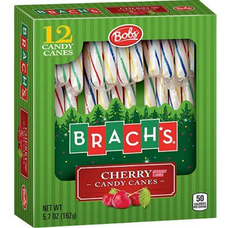 Brach's Bobs Cherry Candy Canes 12ct