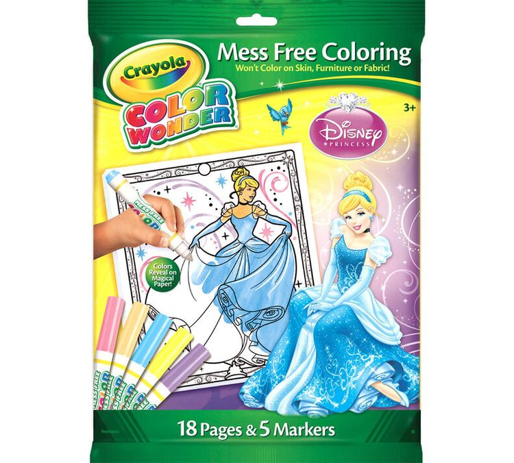 Crayola Color Wonder Coloring Pad & Markers - Disney Princess