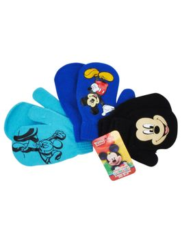 Disney Toddlers Mickey Mouse Gloves Mittens 2T-4T (3-PACK)