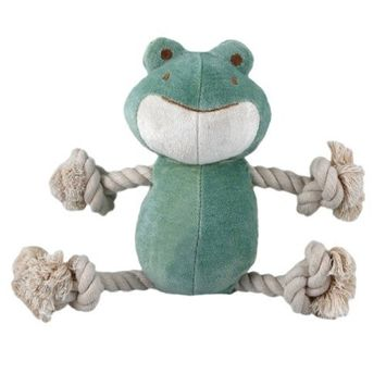 Simply Fido Bamboo Rayon Plush Rope Dog Toy, Petit 6