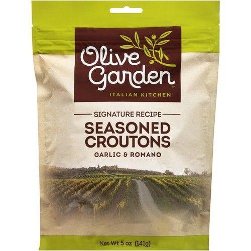 "(4 Pack) Olive Garden"" Garlic & Romano Seasoned Croutons 5 Oz Bag"