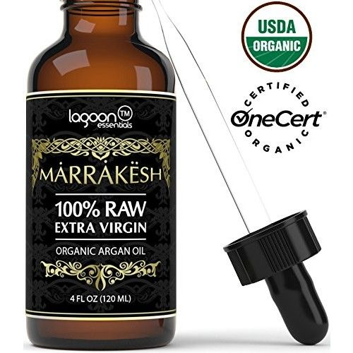Certified ORGANIC Argan Oil For Face, Hair, Skin, Beard, Cuticles & Nails - USDA Organic - 100% Raw Extra Virgin Argan Oil of Morocco - Cold pressed & Unrefined - Bottle With Dropper