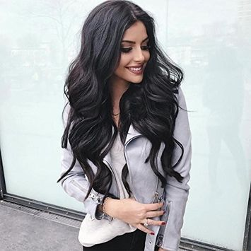 LacerHair Clip in Human Hair Extensions Body Wave Real Remy 100% Brazilian Virgin Hair 120G Balayage Full Head For Double Weft Natural Black #1B 7 Pieces/Set 10-22 Inch