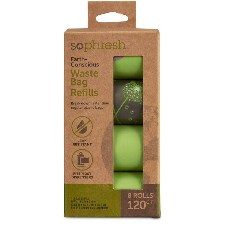 So Phresh Earth-Conscious Dog Waste Bag Refills, 120 count