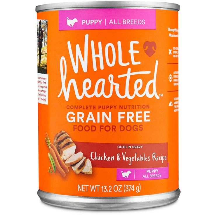 WholeHearted Puppy Food - Grain Free Chicken & Vegetables Canned Cuts in Gravy, 13.2 oz, Case of 12