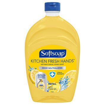 Softsoap Antibacterial Hand Soap Refill, Kitchen Fresh Hands, 50 Oz
