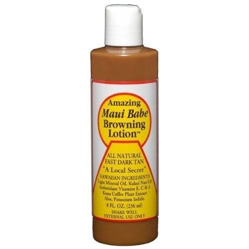 Browning Lotion - All Natural Fast Dark Tan 8 fl.oz by Maui Babe by Maui Babe