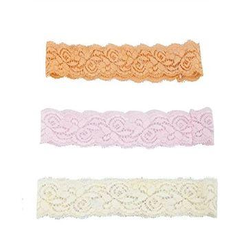 Lux Accessories Orange Pink Ivory Lace Headbands Cute Headbands Headwrap Set 3PC