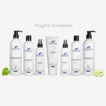 FRAGFRE Complete Skin Care Set for Sensitive Skin - Fragrance Free Hypoallergenic Parabens & Sulfate Free - (7 items) 8 oz (3), 12 oz (2), 16 oz (2) - Complete Collection - Vegan Gluten Free