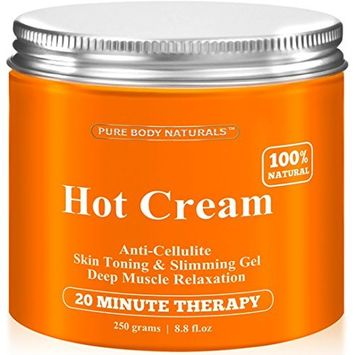 Cellulite Cream & Muscle Relaxation Pain Relief Cream Huge 8.8oz - 87% Organic Cellulite Cream Treatment Hot Gel, Firms Skin - Muscle Rub Cream, Muscle Massager, Hot Cream [1 Pack]