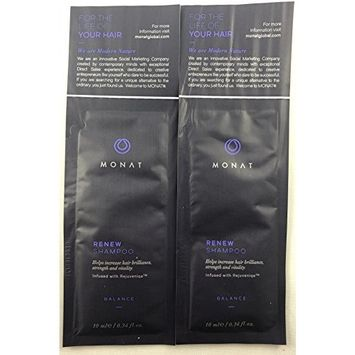 (2) Monat Renew Shampoo Samples : Beauty