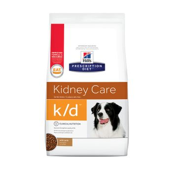 Hill's Prescription Diet k/d Canine Kidney Care Lamb Formula Dry Dog Food