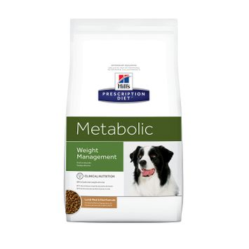 Hill's Prescription Diet Metabolic Canine Weight Management Lamb Meal and Rice Formula Dry Dog Food