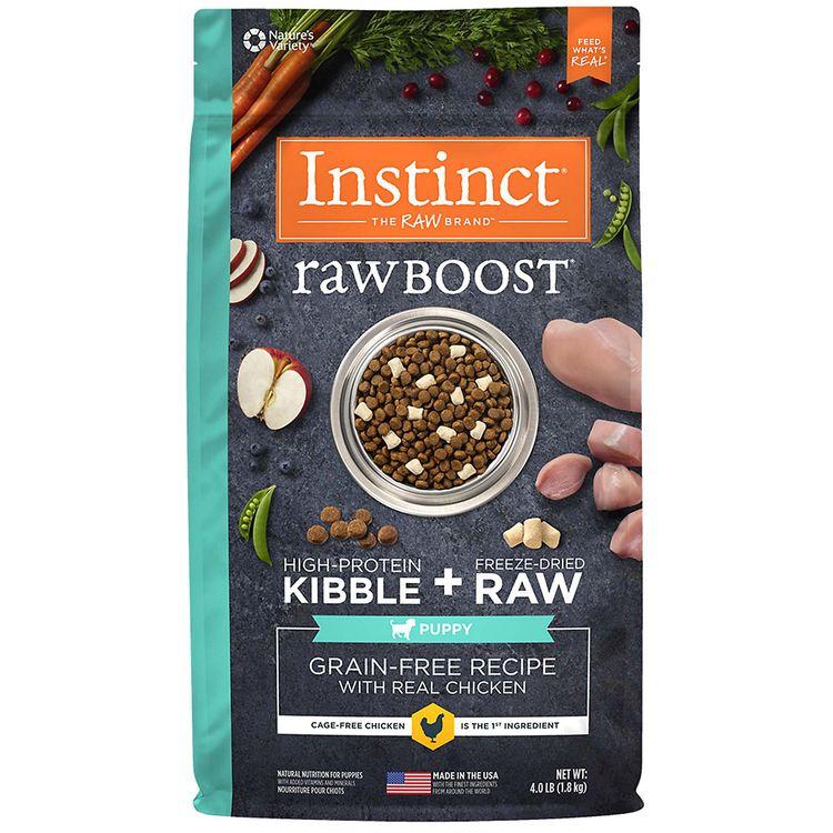 Nature's Variety Instinct Raw Boost Puppy Grain Free Chicken Dry Dog Food, 4 lbs.