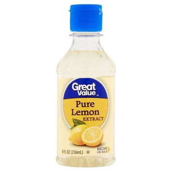 Wal-mart Stores, Inc. Great Value Pure Lemon Extract, 8 fl oz
