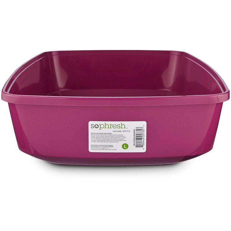 So Phresh Mulberry Open Cat Litter Box, Large