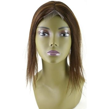 Invisible Lace Closure Natural Brazillian Virgin Remy 100% 12'' Human Hair Color: S4/30