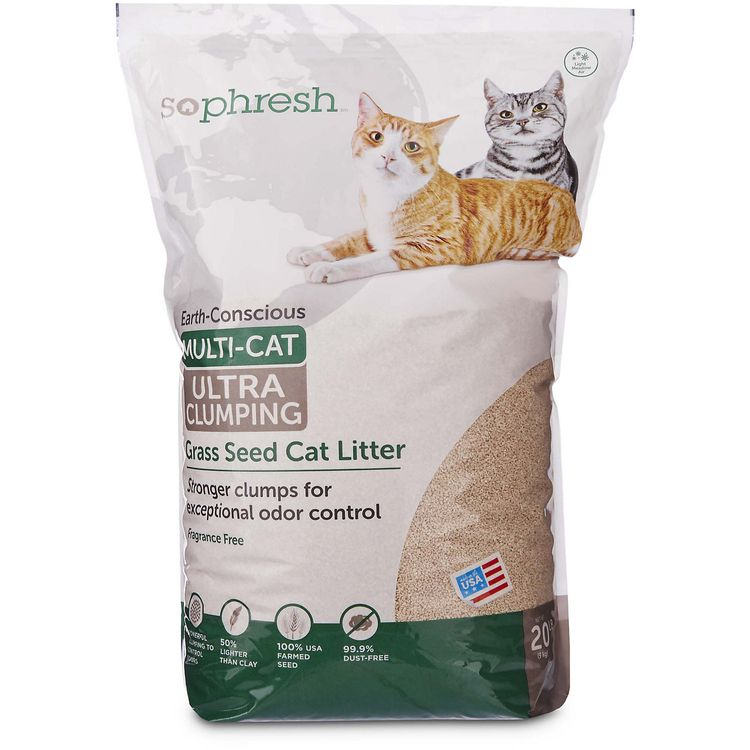 So Phresh Extreme Clumping Scented Grass Seed Cat Litter, 20 lbs.