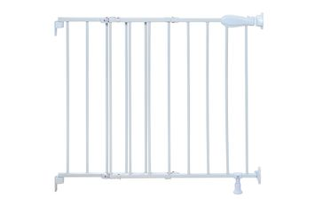 Top of Stairs Simple to Secure Metal Gate