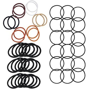 Hair Styling Hairstyling Set Kit of 48pcs Snag Free Hairbands Hair Bands Elastics Ponytails Holders Bobbles Scrunchies In Different Colors