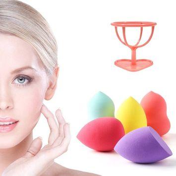 Makeup Blender Sponge Beauty Blending egg 5 Pcs + Sponges Holder - Flawless Foundation Premium Eye Face Tool Puff Cosmetics for Powder Concealer Cream Complexion Liquid Applicator Latex Free