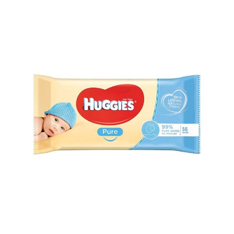 Huggies Pure Wipes 99% Pure Water No Perfume Scent