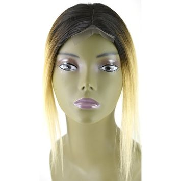Invisible Lace Closure Natural Brazillian Virgin Remy 100% 12'' Human Hair Color: Ombre 1B/613