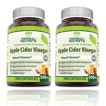 Herbal Secrets Apple Cider Vinegar 500mg 250 Capsules, 2 Pack